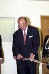 HRH Prince Phillip at Post Genomics and Molecular Interactions Centre