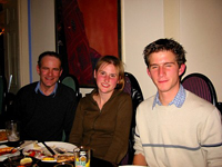 Geoff Barton, Suzi and Andreas at leaving dinner